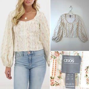 Asos floral blouse. Size 2